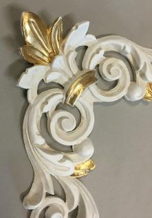 Wanddeko Wandbehang Deko 28cm Altweiß-Gold Spiegel Deko C1536 Ivory Möbeldeko - Vorschau 3