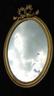 Wandspiegel Schwarz Silber Spiegel 57x41 BAROCK Oval massiv schleife Wanddeko 1 - Vorschau 4