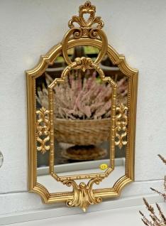 Barock Wandspiegel Gold Prunk Spiegel Antik Rokoko Badspiegel Shabby 59x32cm NEU - Vorschau 1