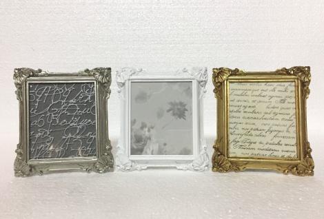 Bilderrahmen Antik Silber Rechteckig Antik Barockrahmen Fotorahmen Shabby c74p