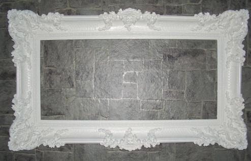 XXL Bilderrahmen Barock Weiß Rokoko Gemälde Rahmen 97x57 Prunkrahmen Fotorahmen