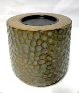 Kerzenhalter Holz Antik 18x19 Kerzenständer aus Mango Holz Kerzenhalter 19814G