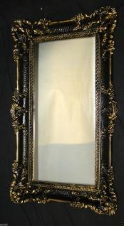 Barock Wandspiegel, Spiegel, Flurspiegel, Friseur schwarz gold Antik 97x57cm