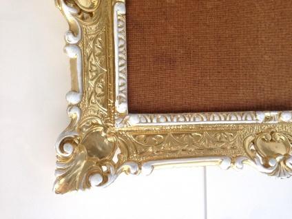 Bilderrahmen Gold Weiß barock + Glas 56x46 Fotorahmen Antik Rahmen 30x40 - Vorschau 5