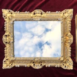 Bilderrahmen Gold-Weiss mit Glas Rechteckig 45x37 Fotorahmen Gemälderahmen