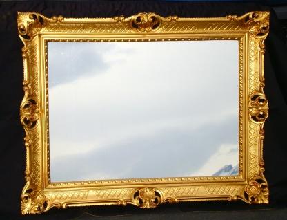 XL Wandspiegel Antik Badspiegel Barock Spiegel Rechteckig 90x70 GOLD 103057