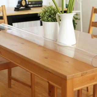 Tischschutz Folie 2, 0mm Pvc Transparent Schutzfolie Tischdecke Meterware 80-100 - Vorschau 2