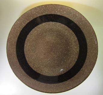 Tisch Deko Schale -Obstschale Glänzende Glitzernde BRAUN 38cm x 6cm Glasschale