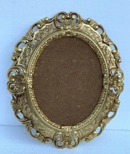 Bilderrahmen Oval Barock Gold 45x37 Antik Fotorahmen Bilderrahmen mit Schutzglas