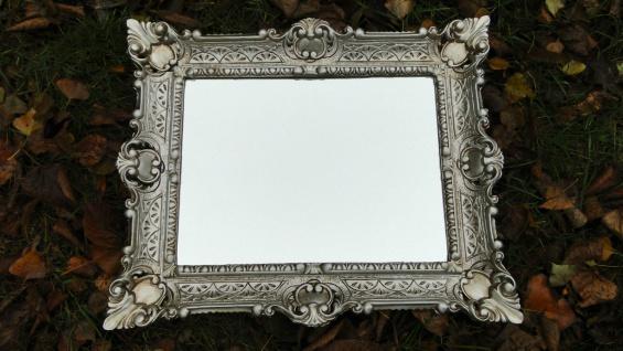 Wandspiegel Antik Silber 57x47 Badspiegel Barock vintage Rechteckig 30x40 - Vorschau 3