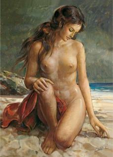 Landschafts Frauen Nackt Wandbild 35x50 Frauen Bilder Junge Frau KUNSTDRUCK