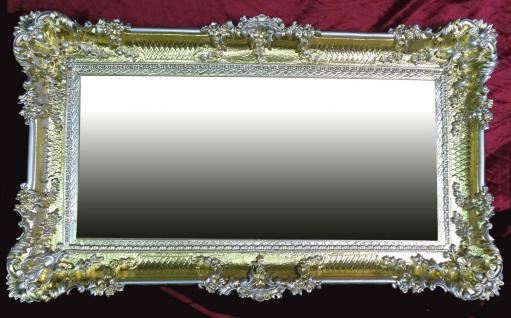 Wandspiegel Antik Barock GOLD-Silber Spiegel Repro DEKO 97x57 Groß Ornamente