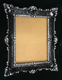 Bilderrahmen Schwarz-silber Antik Rechteckig 56x46 BAROCK 30x40 mit Glas