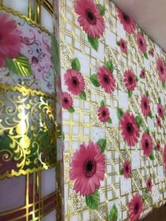 Tischschutz Folie 2 mm PVC Schutzfolie Tischdecke Meterware 90-100cm Blumen - Vorschau 2