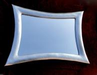 Wandspiegel Groß Friseurspiegel Silber115x85 Holzrahmen Flurspiegel Retro Repro