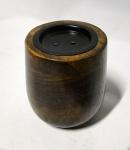 Kerzenhalter Holz Antik 10x10 Kerzenständer aus Mango Holz 19807 BRAUN