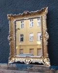 Italienischer Wandspiegel mit Gold-Silber Rahmen Barock Spiegel 57x47 Antik