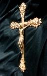 KREUZ Kreuzefix Kruzifix Wandkreuz Messing H33 JESUS am Christus Altarkreuz NEU
