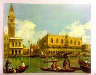 Venezia gondel Nostalgie Wandbild 50x40 Venedig Gondel Kunstdruck MDF Rückwand