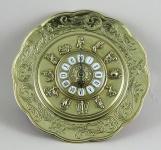 Wanduhr Messing Gold Horoskop mit Sternzeichen Barock Uhr Quarz Rund 31cm
