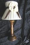 2 x TISCHLAMPE AUS KASTANIENHOLZ Nachtlampe Kinderzimmer Schleife Lampe31 cm