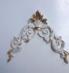 Wanddeko Wandbehang Deko 28cm Altweiß-Gold Spiegel Deko C1536 Ivory Möbeldeko
