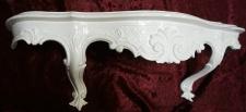 Wandkonsole Weiß Barock Antik Wandregal Spiegelkonsole B:50 x T:13 x H:21cm cp51