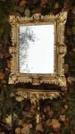 SET Wandspiegel Wandkonsole Gold Barock Spiegelablage 45x37 Spiegel mit Konsole