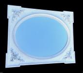 Wandspiegel Holz Antik Weiss 100x80 Flurspiegel Friseurspiegel Antik Mirror