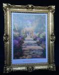 Gemälde von Monet The Garden Blumen Bild Bilderrahmen Wandbild Antik Garden 01