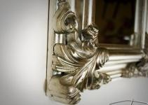 Wandspiegel Antik Silber Spiegel Barock rechteckig WAND DEKO 60x50 Badspiegel