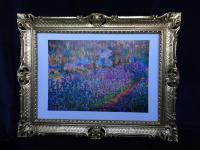 Claude Monet Garden Landschafts Bild Blumen Bilder Rahmen 90x70cm Garden SS72084