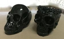 2 x Set Totenkopf Schwarz Skull Gothic Fantasy Figur Totenkopf als Aschenbecher