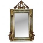 Wandspiegel Gold Oval Groß XXL 110x70 Mirror Modern Flurspiegel Badspiegel