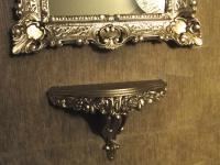 Wandspiegel Rechteckig mit Konsole Spiegelablage 56X46 BAROCK ANTIK Silber 3049