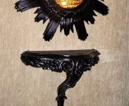 Wandspiegel Konsole Barock wanddeko Wandablage Schwarz 31x21x12 Antik REGALE