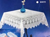 Spitzen Tischdecke häkelspitze Optik weiß Spitze Polyester 140x170 cm Bestickt