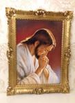 Heiligenbild Jesus Bild Antik Gemälde 90x70 Bild Wandbild Religiöse Bilderrahmen