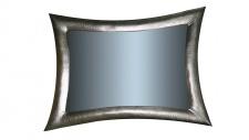 Wandspiegel Silber Spiegel Flurspiegel Antik 115x85cm Friseurspiegel Badspiegel