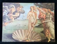 Venus Wandbild 70x50 Kunstdruck auf MDF Platte Die Geburt der Venus Botticelli