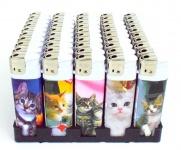 50 x Feuerzeuge Tier Katze Motiv bunt nachfüllbare lighter wiederauffüllbar NEU