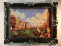 Venedig Gondel Bild Gerahmte Gemälde 90x70 Venedig Venezia Aquarell Venedigbild