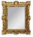 Wandspiegel Gold Antik Badspiegel Barock 45x37cm Kosmetik Spiegel Flurspiegel