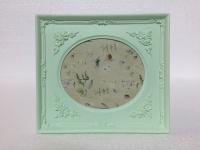 Bilderrahmen Mint Grün 19x17 Antik Barockrahmen oval rechteckig Fotorahmen C72 P