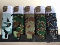 50 Feuerzeuge mit Militär Motiv nachfüllbare lighter NEU Feuerzeug-a