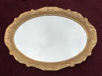 Grosser Wandspiegel Barock 107x80 cm OVAL Antik RAHMEN Mirror Model erya