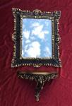 Wandspiegel mit Konsole Barock Spiegel Schwarz-gold 45x37 Spiegel antik Ablage