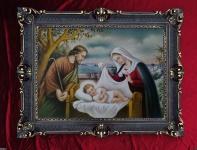 heilige Familie Mutter Gottes 90x70cm Jesus Geburt madonna Jesus Gemälde Josef