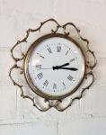 Wanduhr Messing Gold Barock Uhr Quarz Rund 35cm Wanddeko Wanduhr Jugendstil