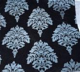 2 Stück Ornamente Kissenhülle Kissenbezug 45x45 Sofakissen schwarz-hellblau
